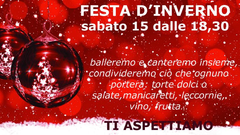 FESTA D'INVERNO SABATO 15 DICEMBRE